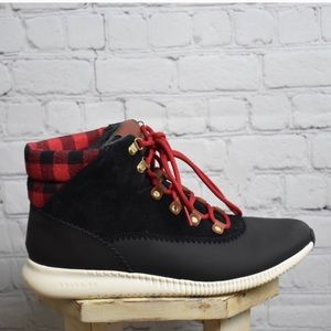 Cole Haan Zerogrand 7.5 Hiker Boots plaid